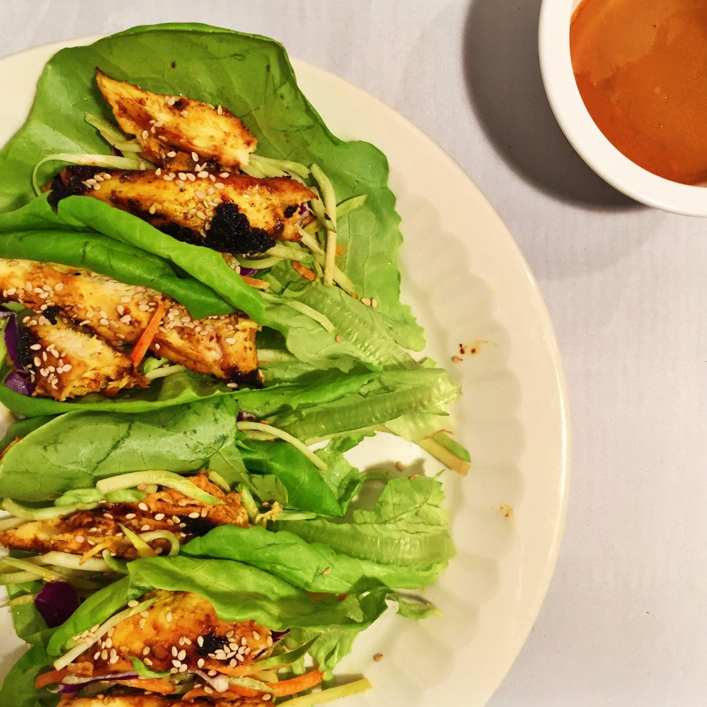 Turmeric Chicken Lettuce Wraps Recipe Image