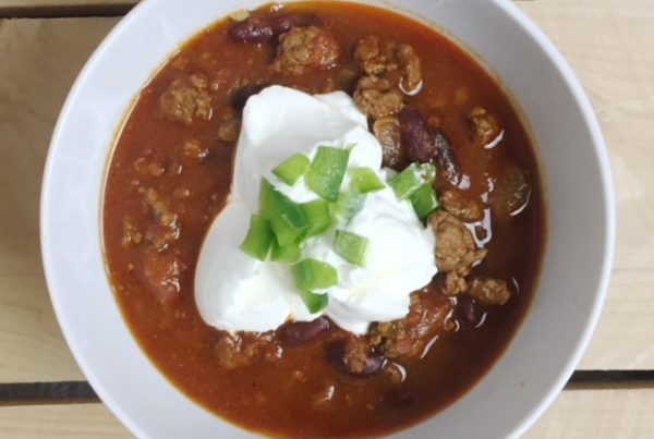 Image of slow cooker chili for a recipe article