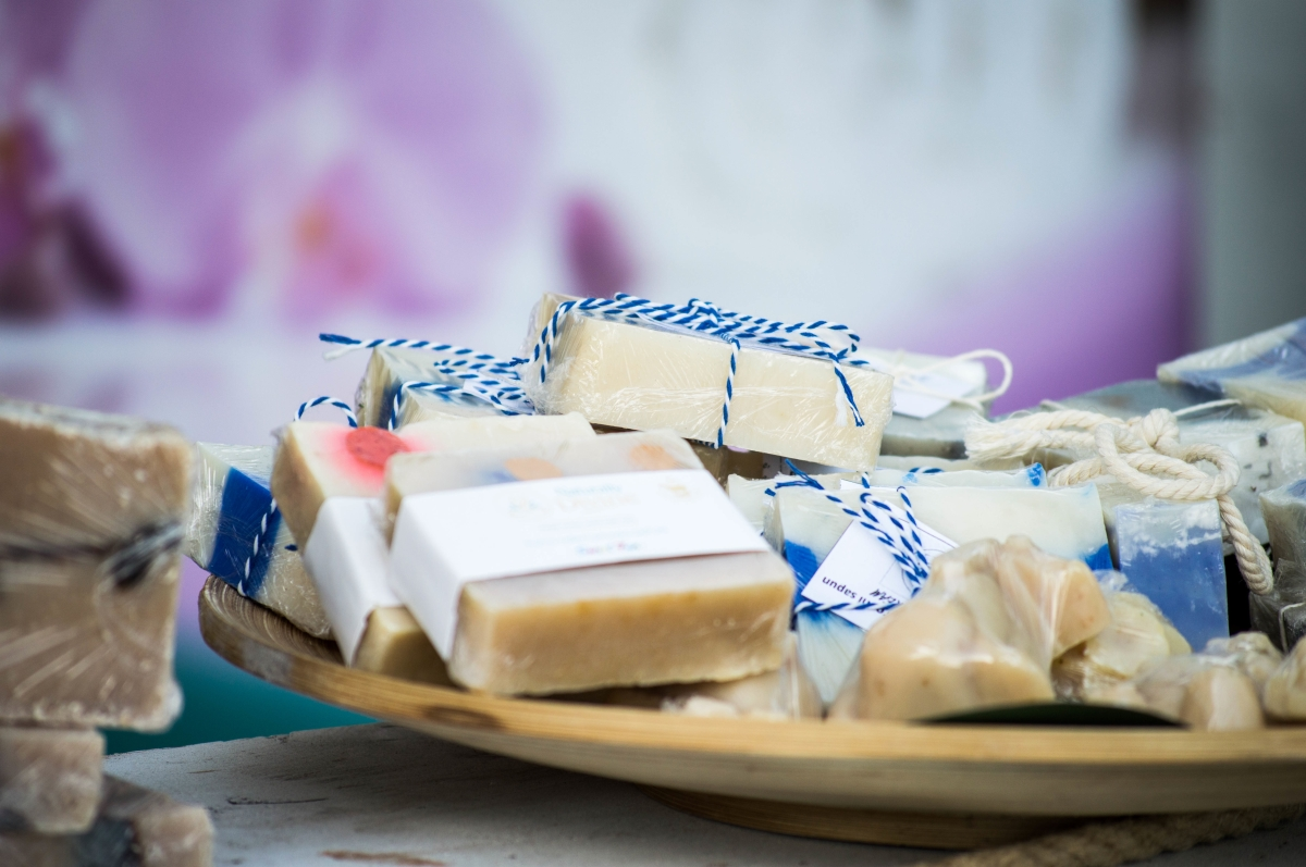 Image of natural soap in article about avoiding parabens