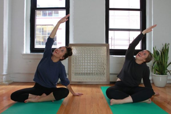 Images of women doing yoga in an article about health challenges