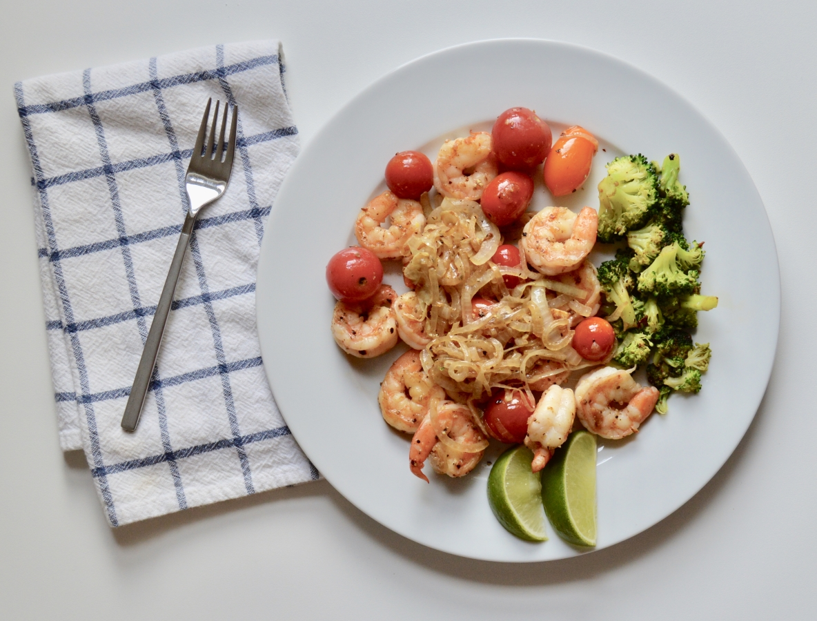 Sauteed Shrimp with Cherry Tomates 1