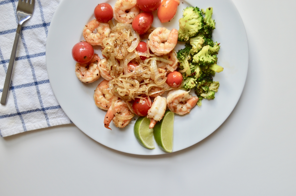 Sauteed Shrimp with Cherry Tomatoes