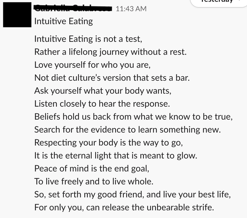 intuitive eating success stories